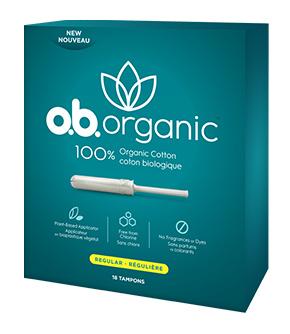 o.b. Organic™ Regular with Plant-Based Applicator